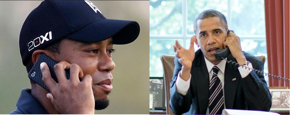 Tiger Woods and President Obama Phone Call